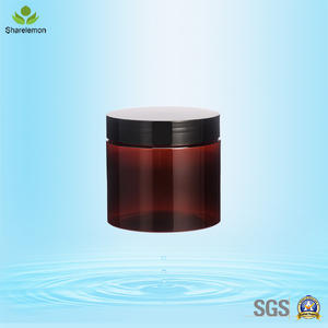 400ml PET Cream Cosmetic Food Grade Amber Plastic Jar