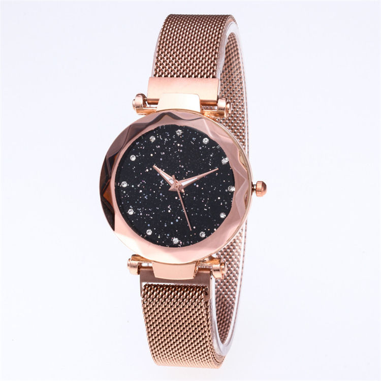 Latest Starry Sky Face Design Watch Magnet Buckle Steel Mesh Band Milanese Strap Women Quartz Wrist Watch jam tangan