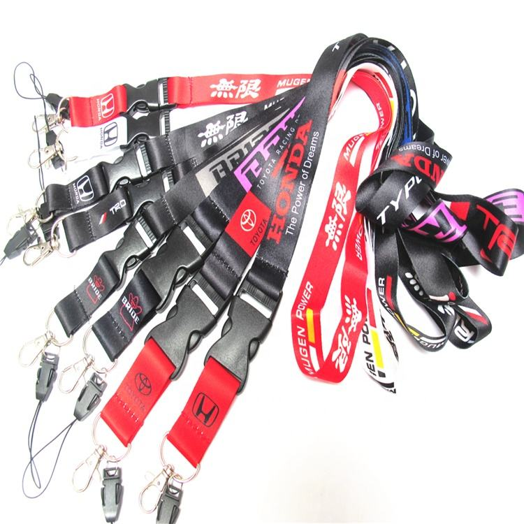 Mens Black Bride Mugen Car Racing Key Lanyard For Badge ID Holders Neck Straps