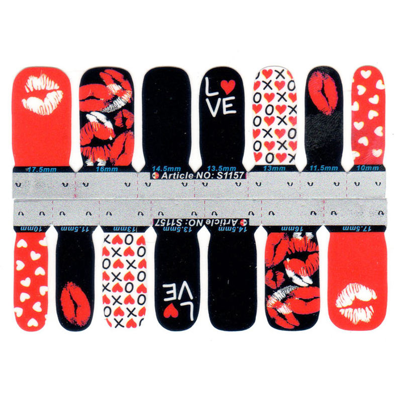 Eco-friendly Non Toxic Safe Nail Art Sticker Cute Animal And Flower Design Cartoon Nail Sticker For Children