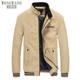 TONGYANG Brand New Spring Autumn Men Casual Jacket Coat Men's Fashion Washed 100% Pure Cotton Brand-Clothing Jackets Male Coats