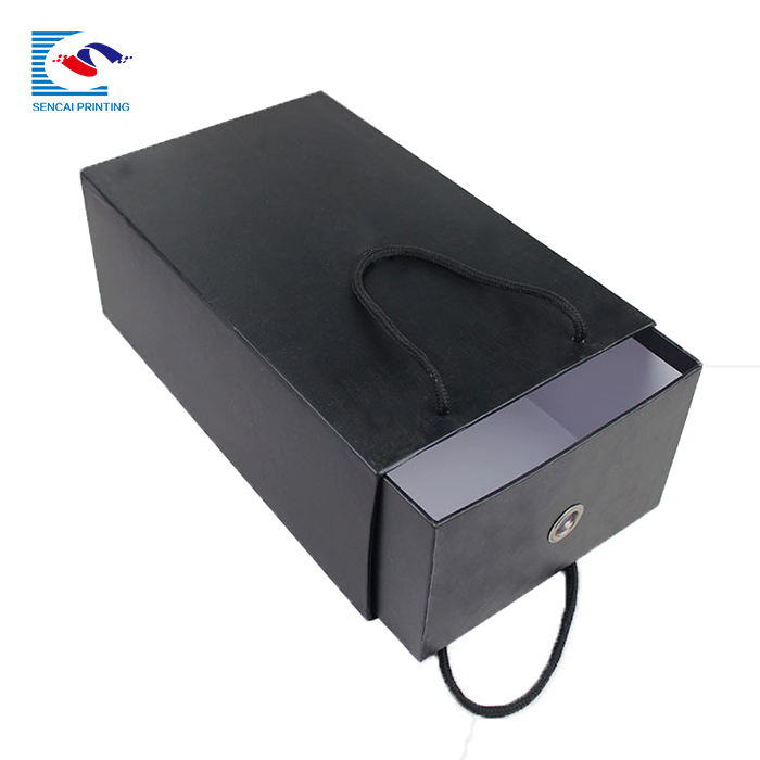 China supplier custom printed shoes drawer paper box with handles