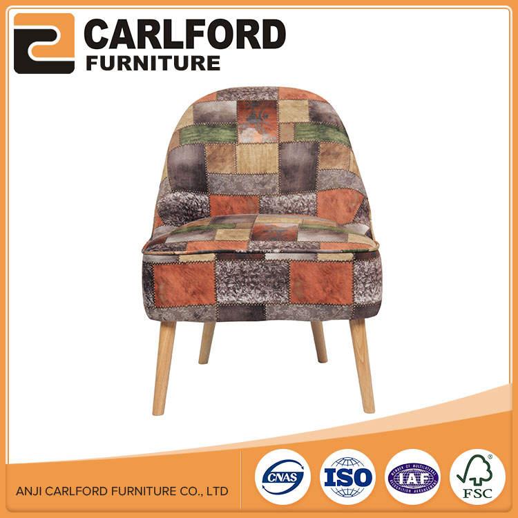 Coloré de Haute <span class=keywords><strong>Qualité</strong></span> Tissu Solide Couleur Rembourrés Salon Chaise