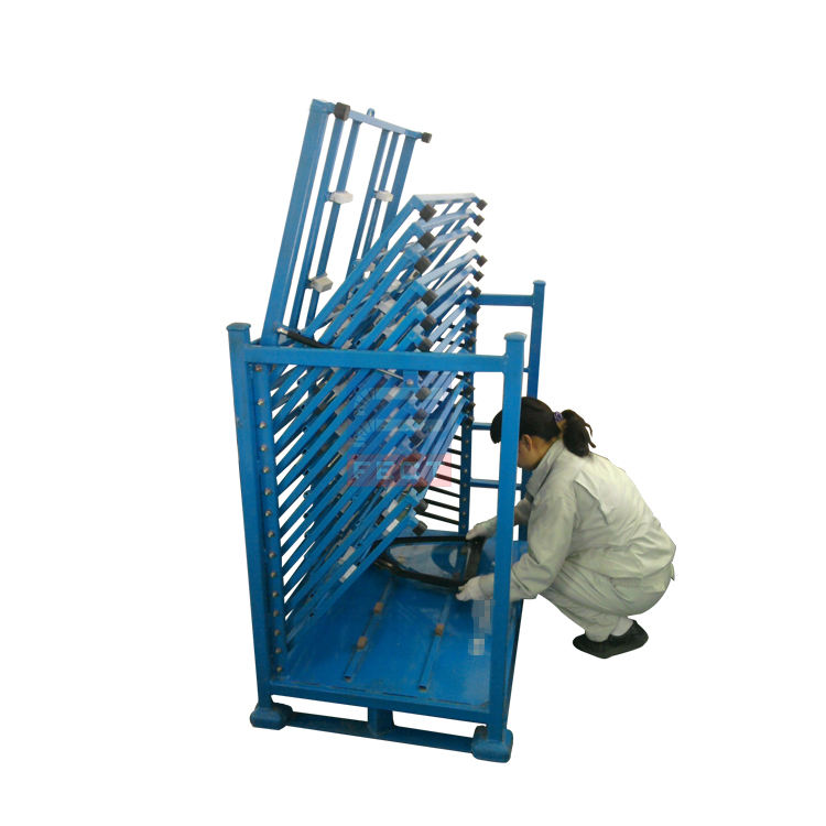 Industrial Equipment Industrial Glass Sheet Storage Racks Foldable Metal Crates