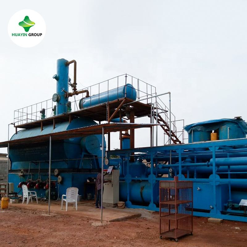 Used motor oil recycling to diesel fuel distillation machines