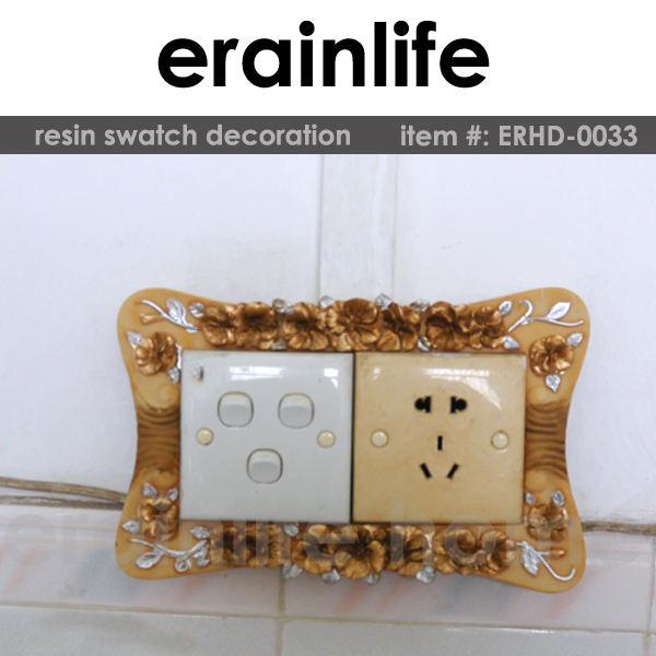 Erainlife erhd- 0033 2015 nuevo diseño del polyresin interruptor de la pared decoración