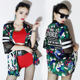 Female Jazz Dance Costume Hip Hop Suit Tops Shorts Jacket Sexy Nightclub DJ Singer Costume Danse Moderne Jazz Enfant DL3292