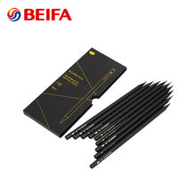 Beifa BRMA904 Wholesale High Level Personalized Logo Wooden HB Pencil Set, Matte Black Wood Pencil