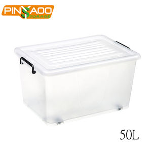 Pinyaoo Storage Household daily storage 50l wholesale clear plastic container with lid