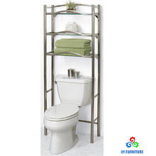 Metal bathroom space saver shelf over the toilet rack organizer wholesale