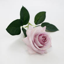 wedding single artificial rose flower latex real touch flowers