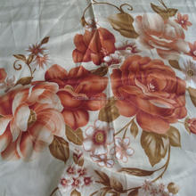 width printed satin fabric / made into curtain or bedsheet