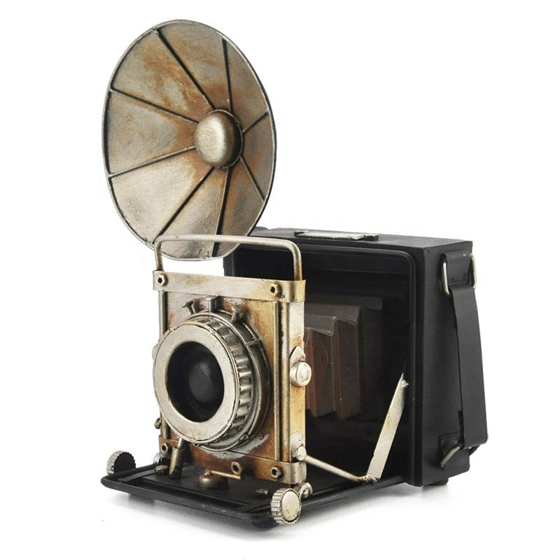 Metal Camera Model Retro Creative Retro Photo Props Archaize Home Decoration Crafts Gifts For Home Office Bar Decor
