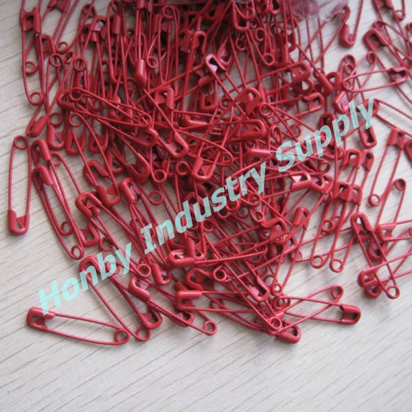 Wholesaled Haberdashery 28mm Decorative Red Colored Safety Pins