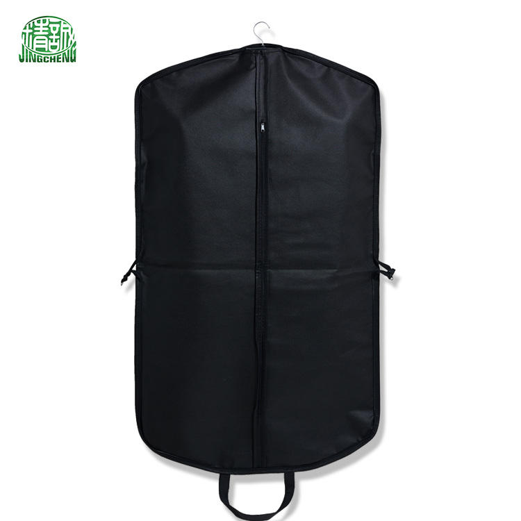 Factory wholesale stock garment suit bag with handles,cloth suit cover,bag with handle