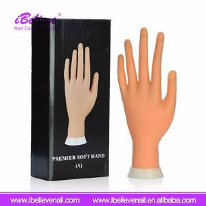 Adjustable Nail Art Practice Model Fake Hand For Training And Display