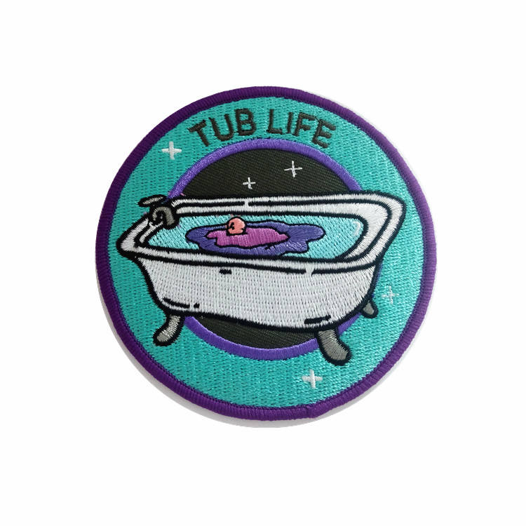 Custom high quality embroidered badge patch iron on embroidery patches