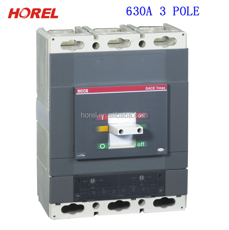 HTmax-100A 3 pole 4 pole 630a mccb Moulded Case Circuit Breaker