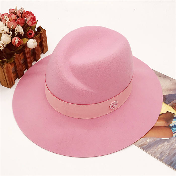 High Quality Wholesale Wool Flet Hat Brown Fedora Hats for women