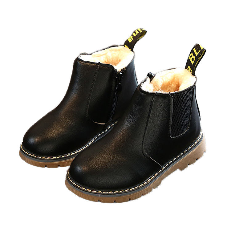 china Kids Winter Chelsea Boots Leather Shoe Girl Fashion Ankle Boots Shoes Wholesale