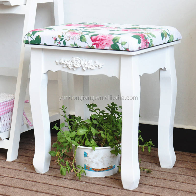 Wood furniture detachable small stool / bench / Ottoman with different colors