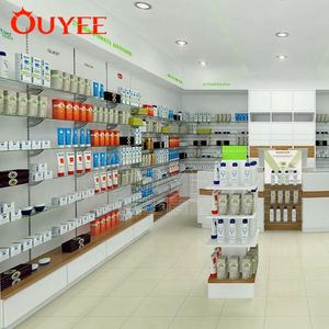 Customized New Medical Store Pharmacy Counter Display Furniture Design