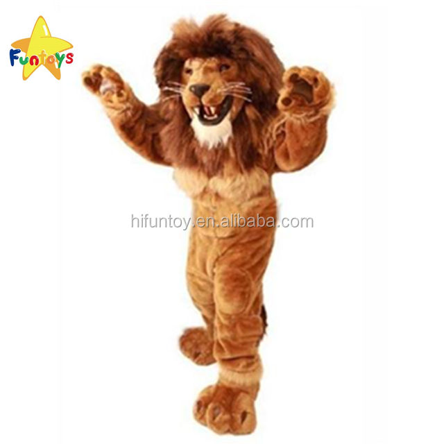 Funtoys CE Leone Mascotte Costume Adulto Animale Selvatico Carnival Party Cosply Mascotte Suit