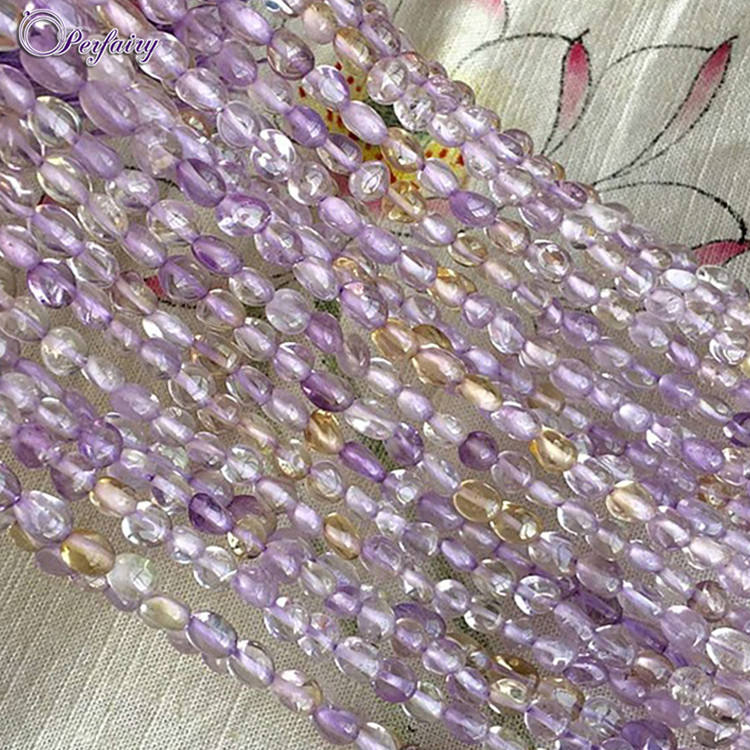 hot string tumble 6x8mm wholesale precious gemstone amethyst necklace for necklace design