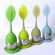 Hot selling Leaves design Silicone tea filter infuser with Stainless Steel tea ball