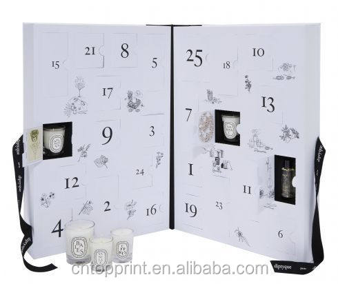 24 schublade advent kalender papier box mit kunststoff tablett