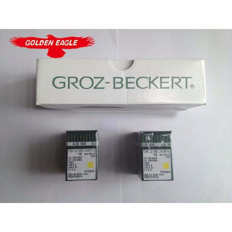 100% ORIGINAL GROZ-BECKERT NEEDLES, MADE IN GERMANY,UY128GAS SIZE 80/12