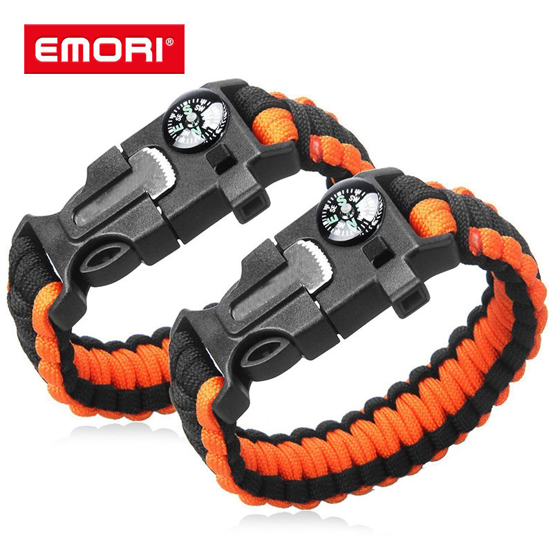 New Products Adjustable Emergency Rope Paracord Bracelet with Cutter Knife