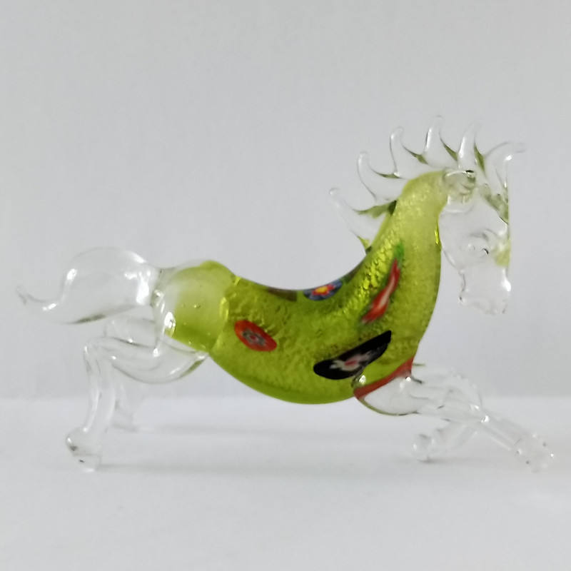 lamp work glass horse figurines horse horse carriage