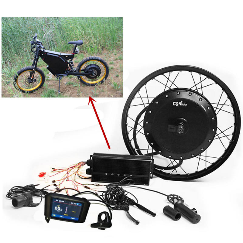 New Year Promotion!!!QS Motor 273 Brushless gearless Hub Motor 8000W ebike conversion kit for ebike