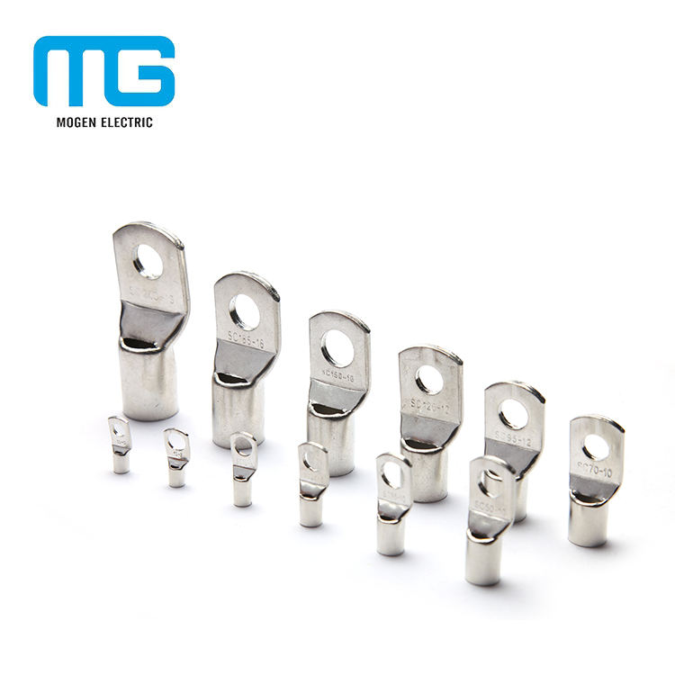Single Hole Copper Crimp Cable Lugs Ring Terminals With Eyelets