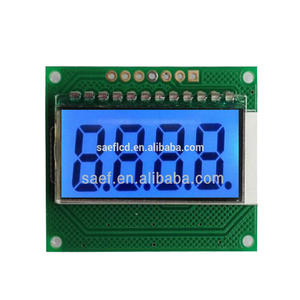 small monochrone lcd display 7 segment TN positive type character lcd module