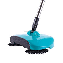 Household hand push floor sweeper, spin broom 360 degree spinning broom