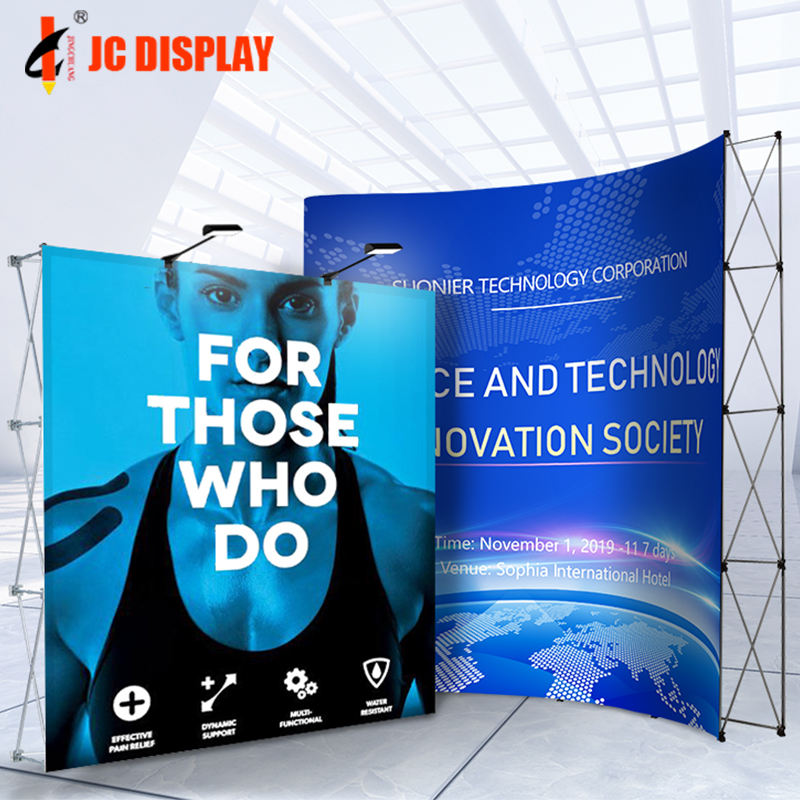 Trade Show Retractable Aluminum Backdrop Display Pop up Stand