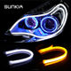 Car LED Daytime Running Lights, 60cm Flexible flexible universal led drl yellow and white DRL