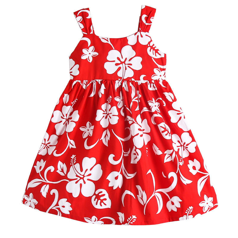 boutique wholesale children fashion sling floral casual dress for 8 years old girls