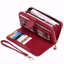 Women Clutch Purse Long Credit Card Holder Organizer ladies wallet with mobile phone holder