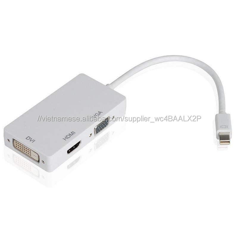 Mini Display Port/DP để <span class=keywords><strong>VGA</strong></span>/HDMI/<span class=keywords><strong>DVI</strong></span> <span class=keywords><strong>Adapter</strong></span> Đối Với Macbook Pro Air <span class=keywords><strong>Mac</strong></span>