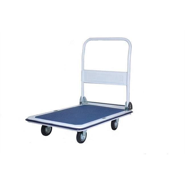 Heavy duty folding hand truck trolley platform trolley with handle