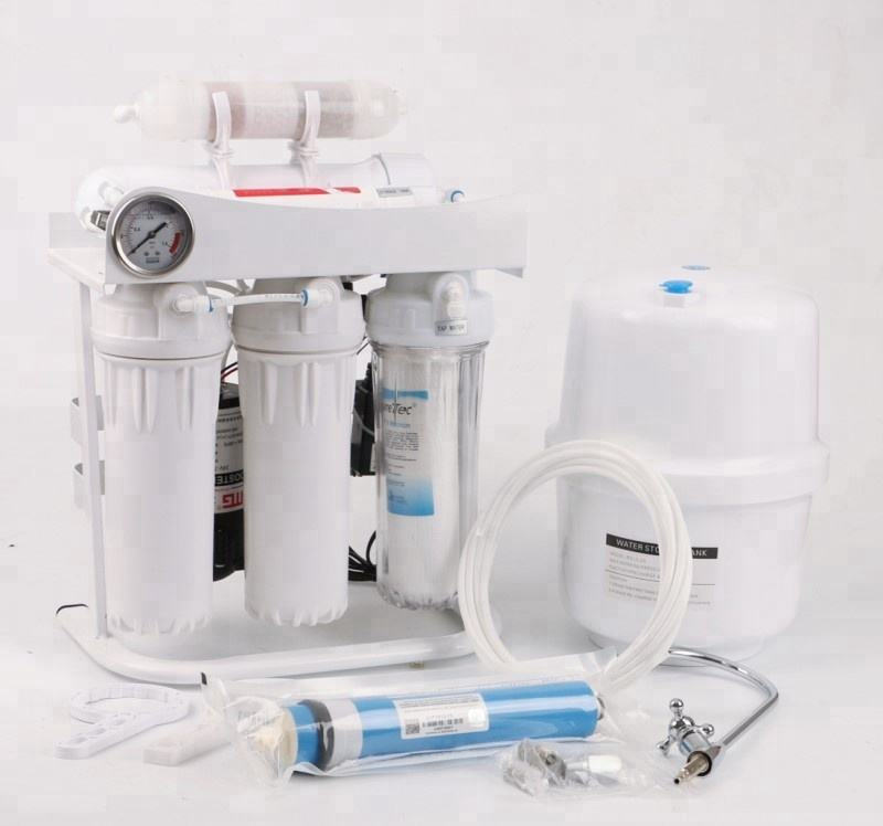 5 stage 75gpd reverse osmosis under sink ro system drinking water filter purification for home