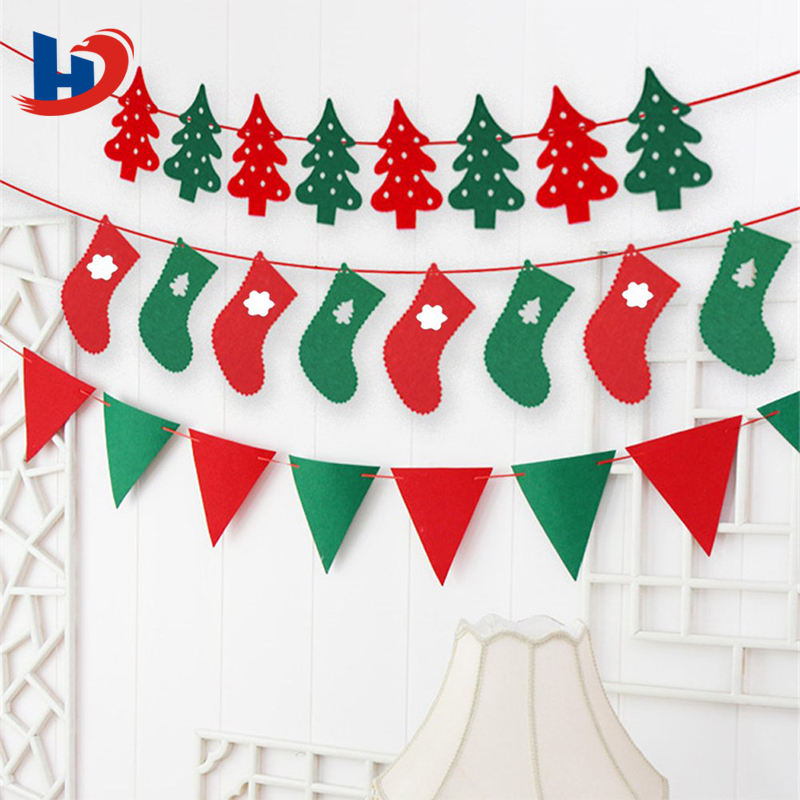 Personalized Felt Christmas Garland Decoration Manufacturer