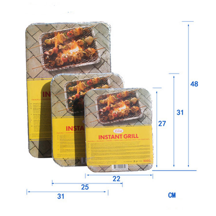 22cm 31 48cm small portable outdoor camping disposable barbecue grill quick light One Time Use Instant bbq Grill