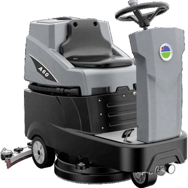 small single disc ride on industrial automatic floor scrubber tile washing cleaning dryer machine for factory supermarket school
