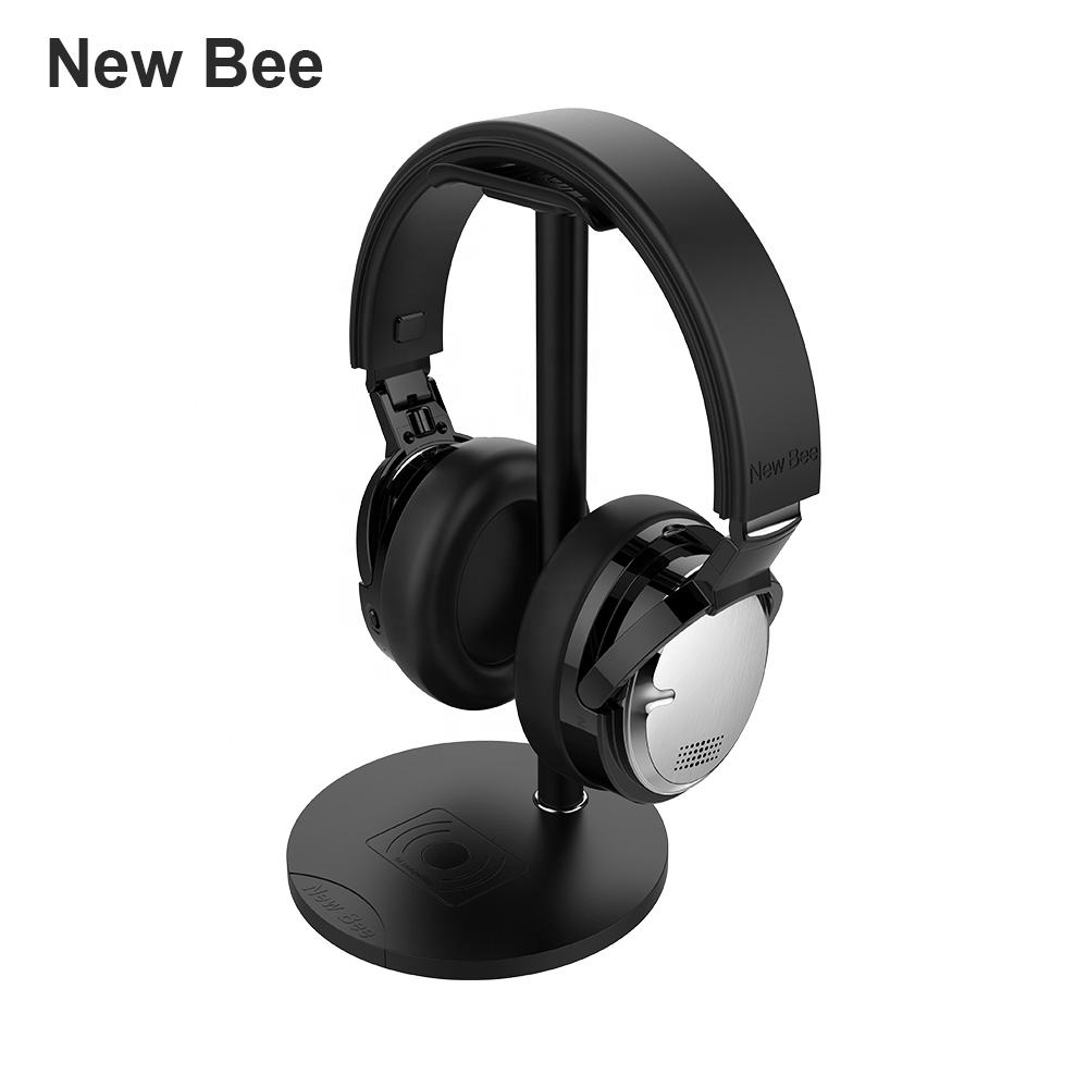 Worlds first wireless charger and wireless dual mic noise cancelling bluetooth headphone headphonese china