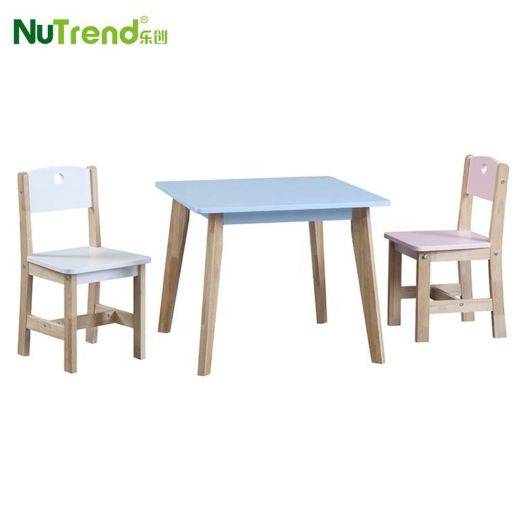 Best Modern Wooden Writing Kids Study Table Child Desk and Chair Children Furniture Set