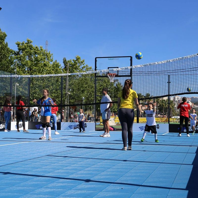 Multi purpose sports flooring waterproof portable anti-slip tennis court flooring